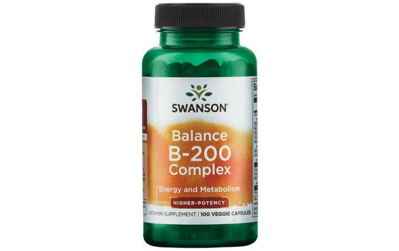 SWANSON Balance B-200 Complex 100kaps -kompleks witaminy B