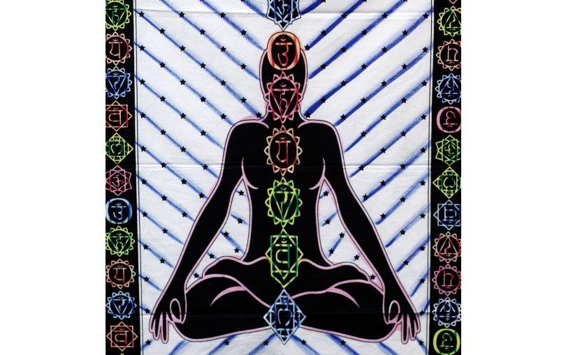 Tkanina ozdobna Budda i Czakry
