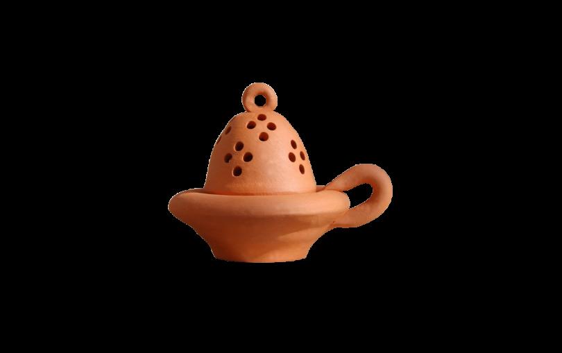 kadzielniczka ceramiczna gliniana terakotowa matowa
