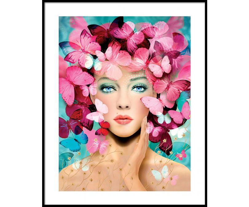 Plakat Głowa pełna motyli 30x40 cm