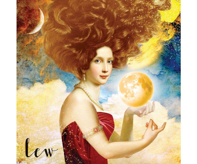 Plakat znaki zodiaku - Lew