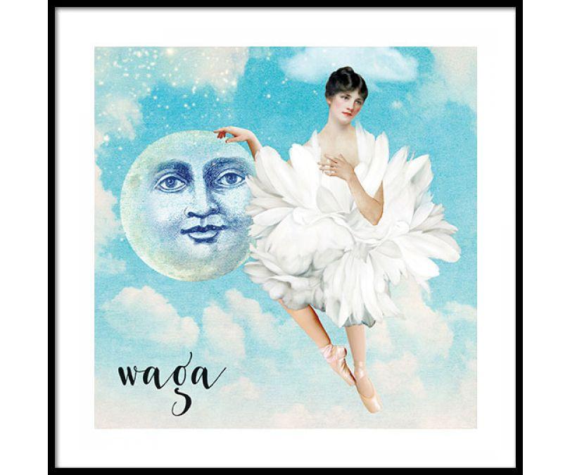 Plakat znaki zodiaku - Waga
