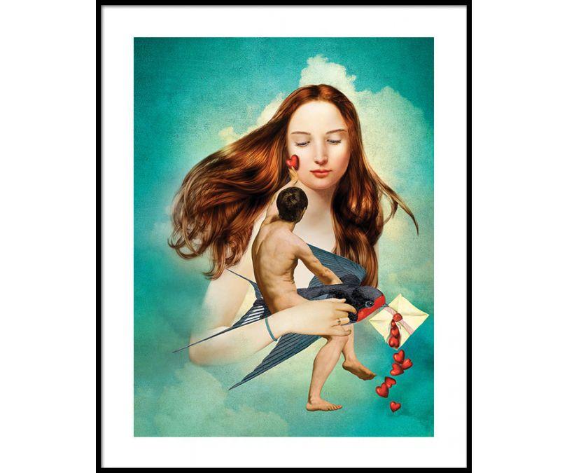 Plakat Miłość w liście 30x40 cm
