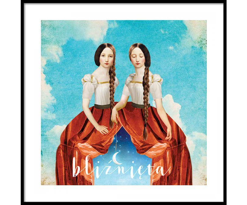 Plakat znaki zodiaku - Bliźnięta