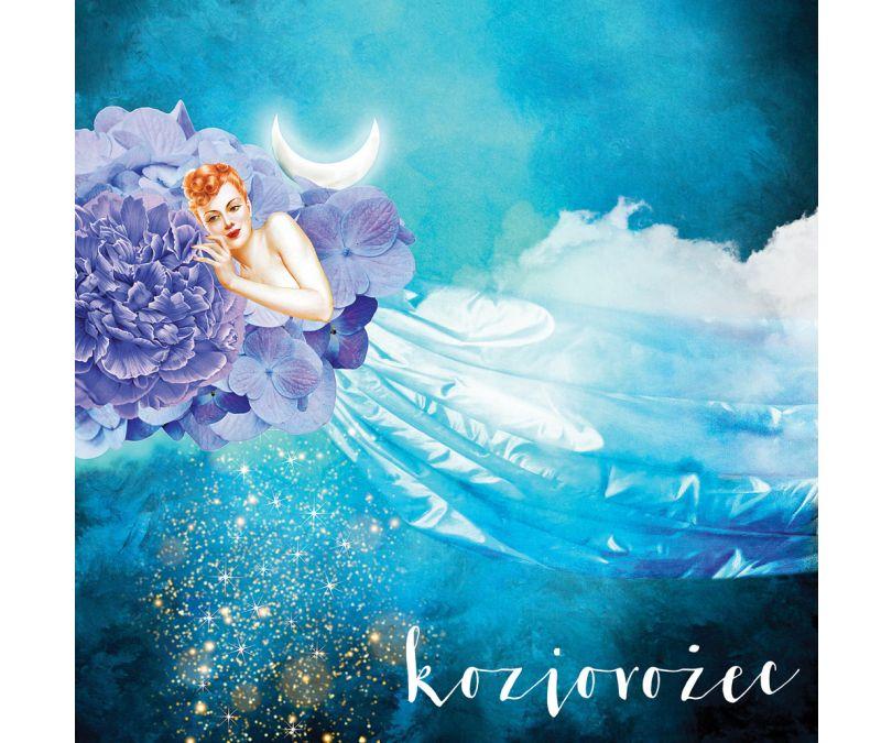 Plakat znaki zodiaku - Koziorożec